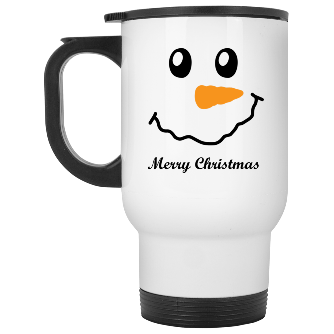 Snow Man Travel Mug