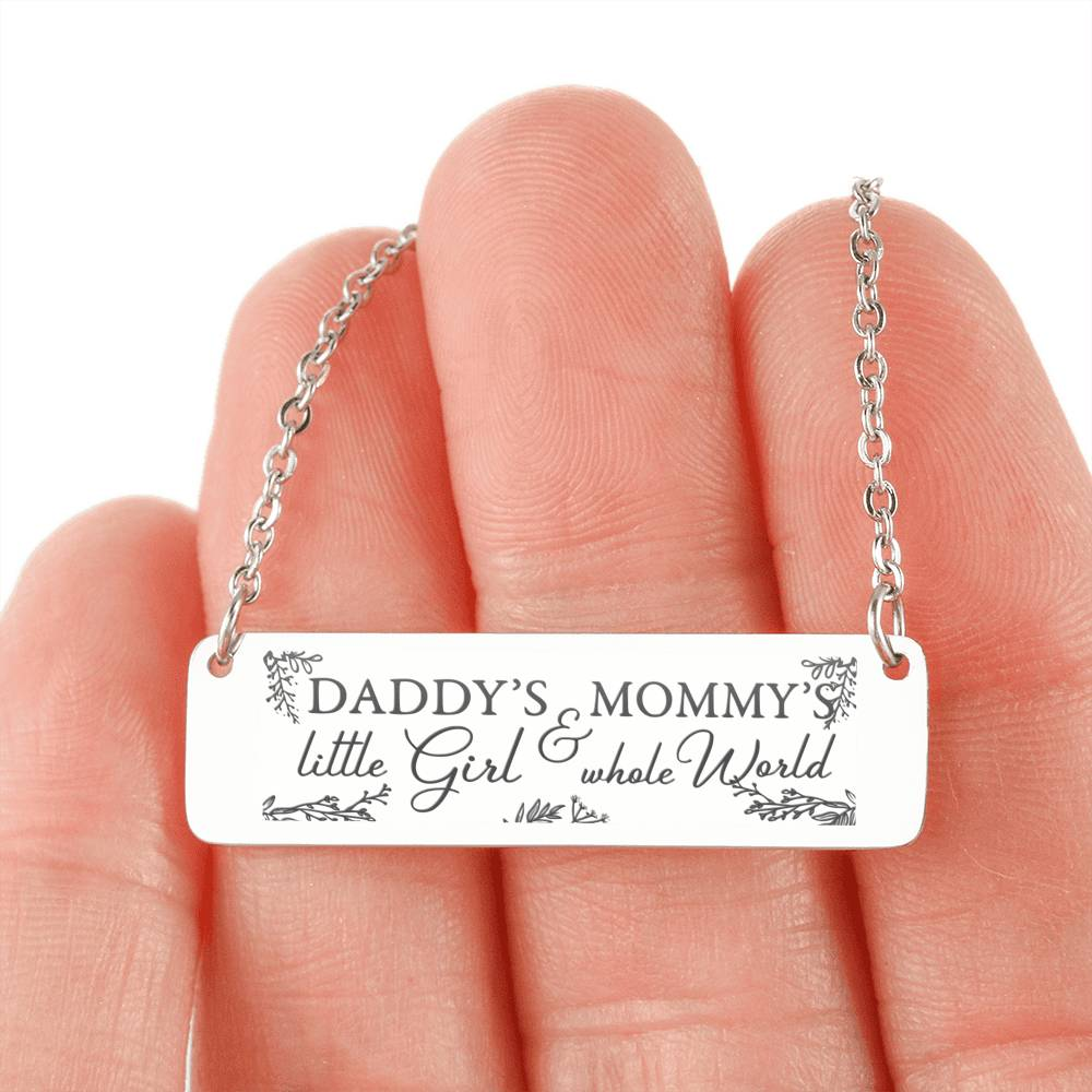 FREE Plus Shipping - Daddy Mommy Little Girl