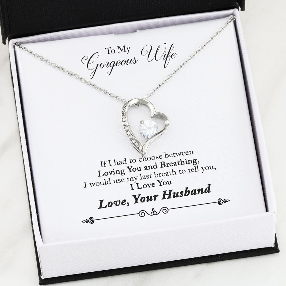 Wife - Last Breath - Forever Love Heart Necklace