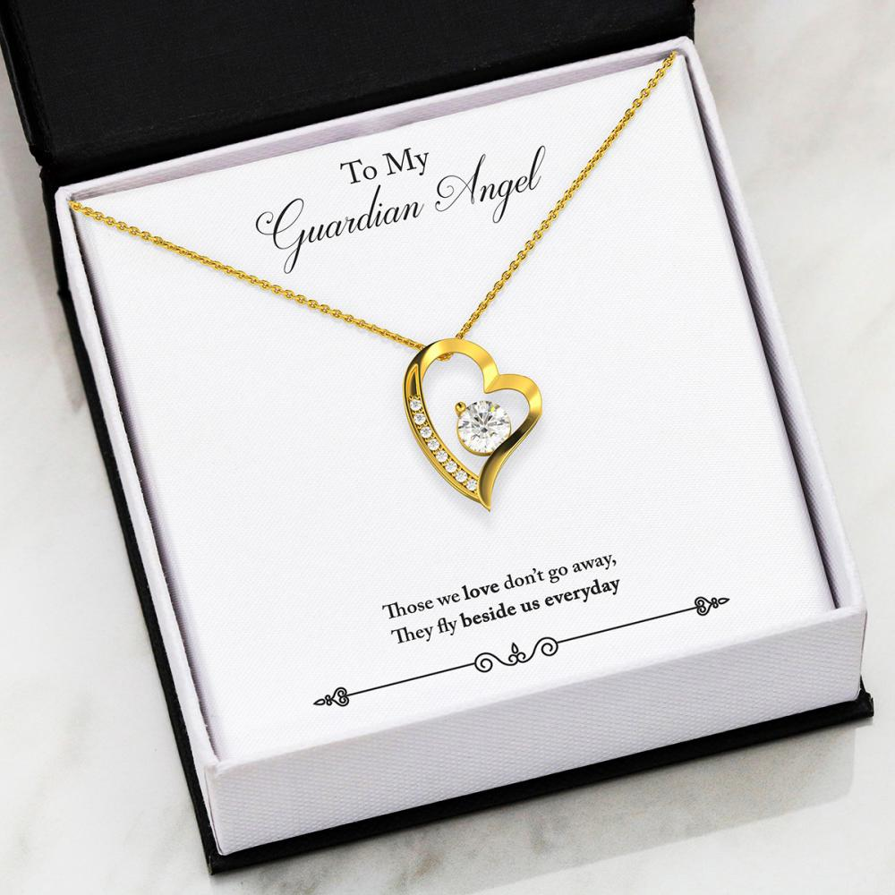 Remembrance - Guardian Angel - Forever Love Heart Necklace