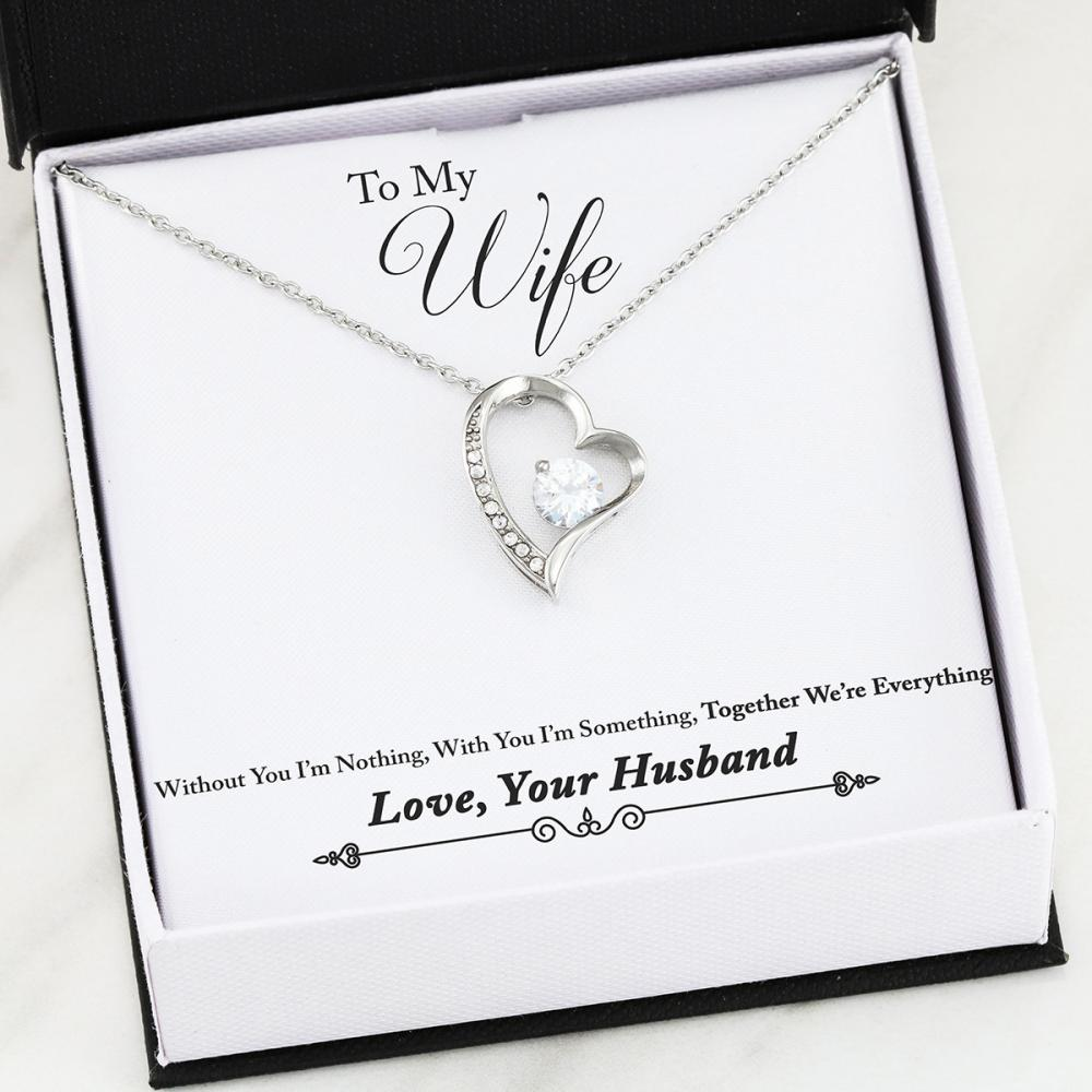 Wife -Everything - Forever Love Heart Necklace