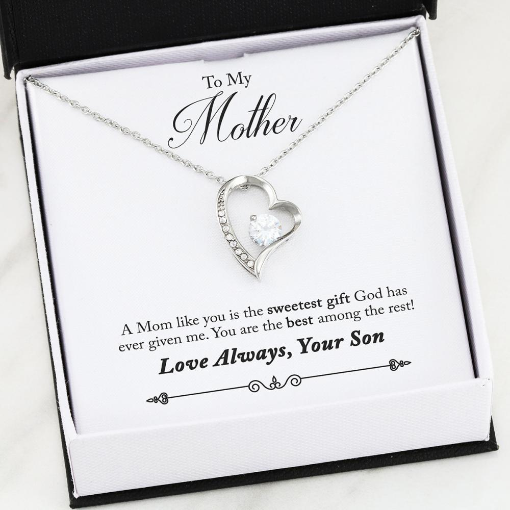 Son To Mom - Best - Forever Love Heart Necklace