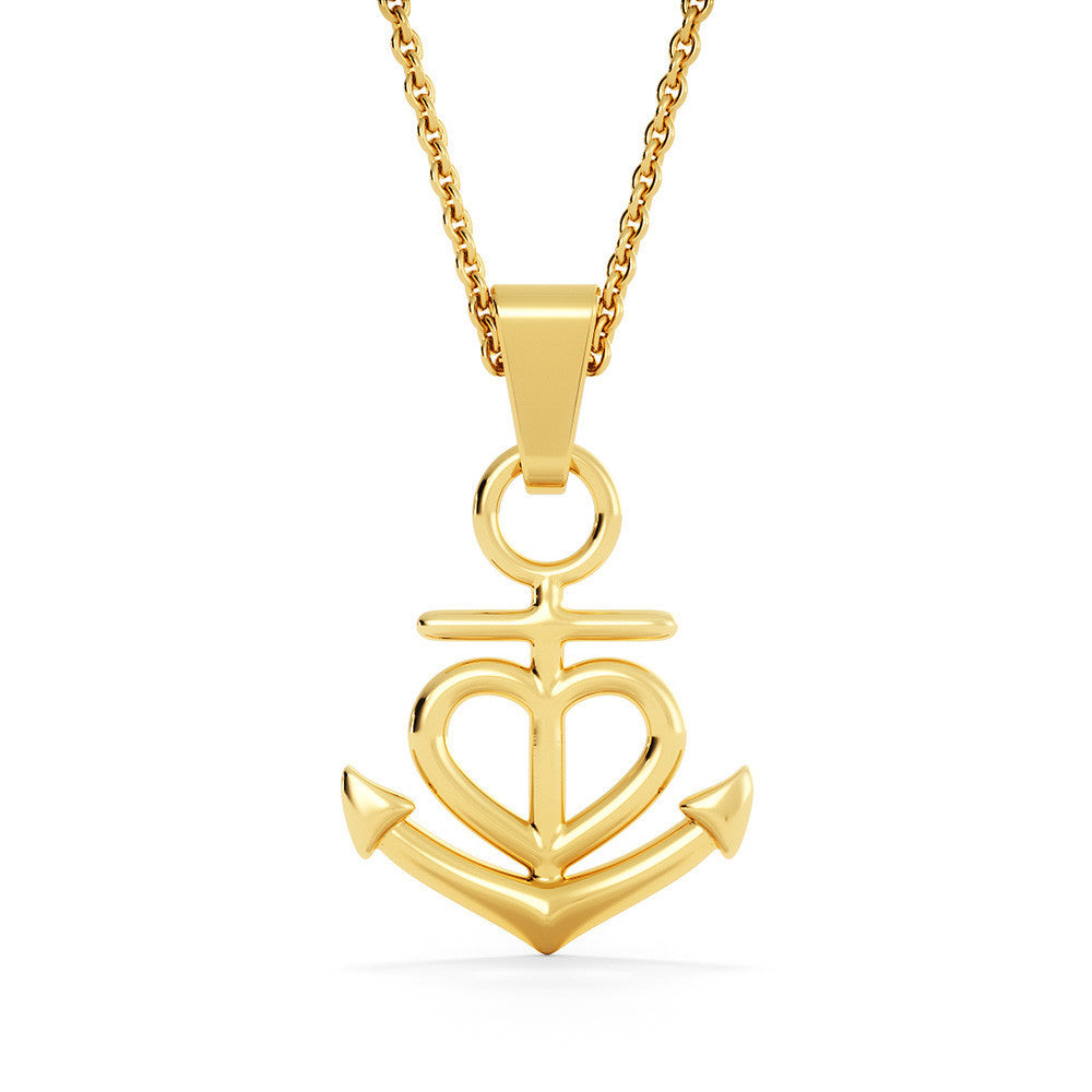 Remembrance - Heart - Anchor Necklace