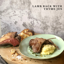Load image into Gallery viewer, Set for 2 - Lamb Rack with Thyme Jus
