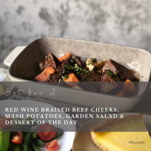 Load image into Gallery viewer, Set for 2 - Red Wine Braised Beef Cheeks