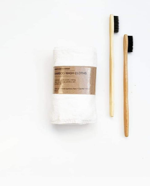 BAMBOO Wash Cloths (Pack of 2) - 25 x 25 cm Super Soft