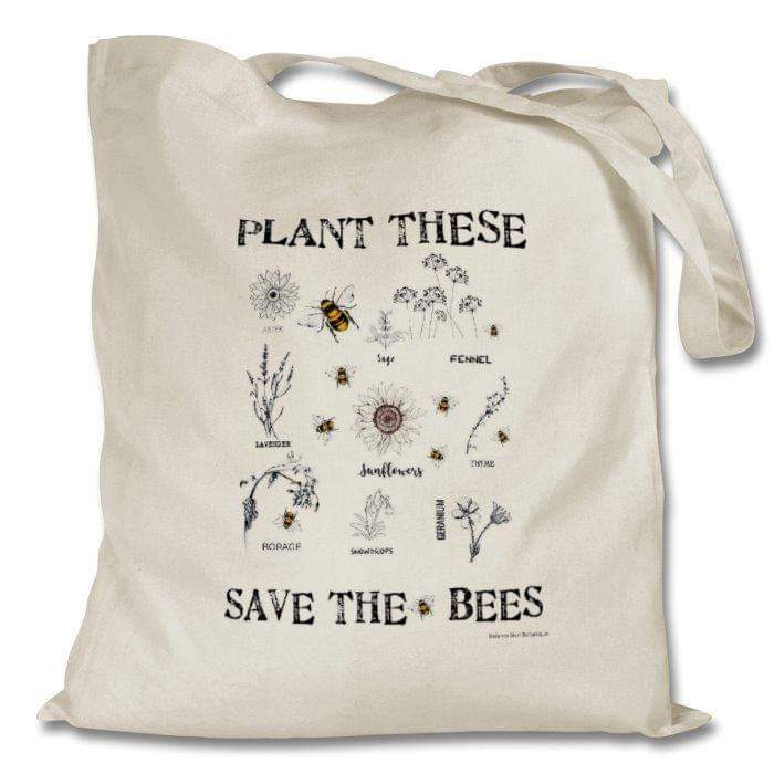 COTTON TOTE BAG - SAVE THE BEE