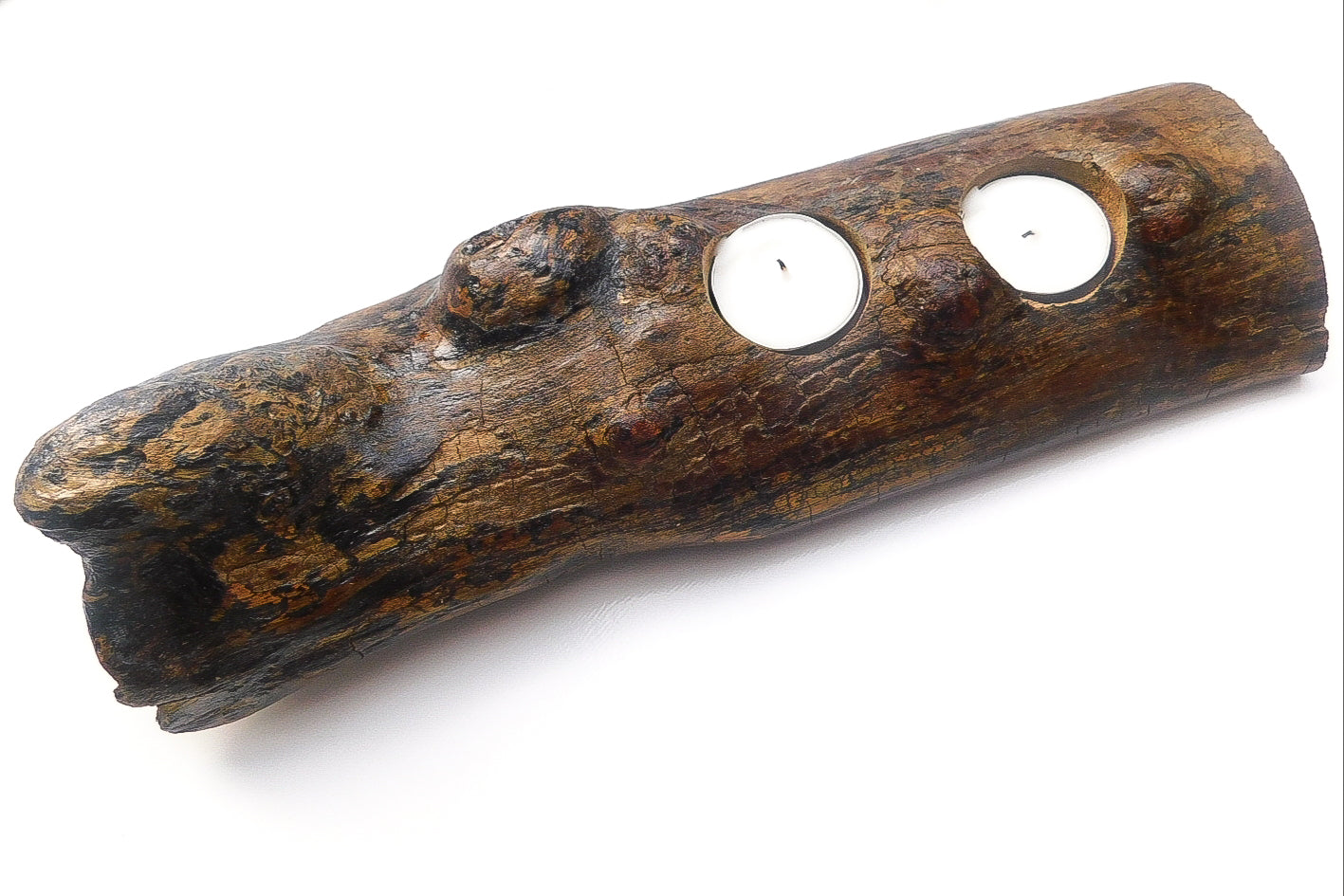 Driftwood tealight holder ( 2 hole)