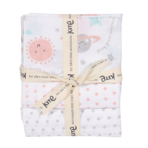 Kite Clothing Autumn-18 Baby Love you 3 pack muslins