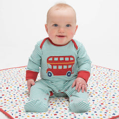 Kite Clothing Autumn-18 Baby Stripy bus sleepsuit