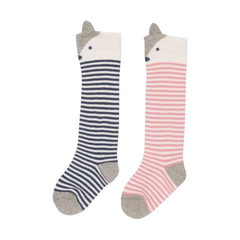 Kite Clothing Autumn-18 Baby 2 pack fox socks pink