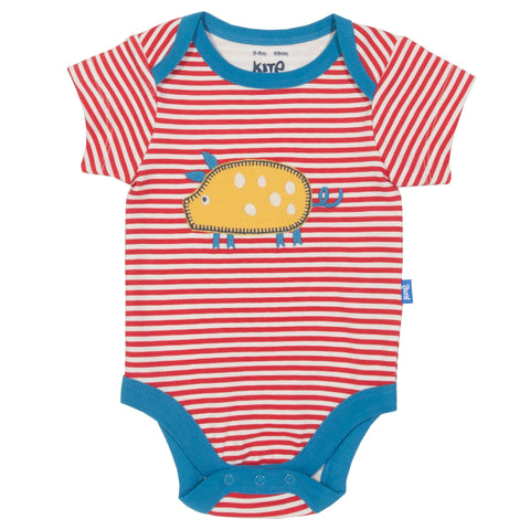 Stripy farm life bodysuit