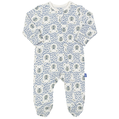 Speckle bear sleepsuit