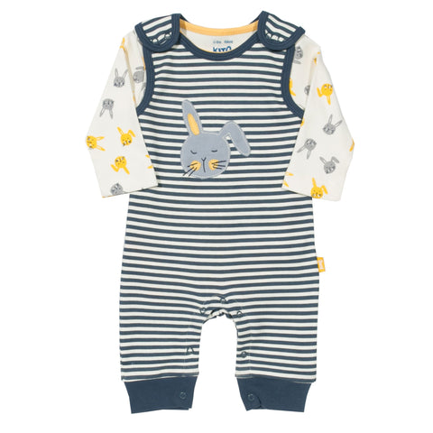 Stripy dungaree set