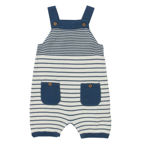 Stripy knit dungarees