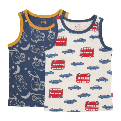 Kite Clothing Autumn-18 Boys 2 pack vests