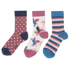 Kite Clothing Winter-18 Girls 3 pack Pegasus socks