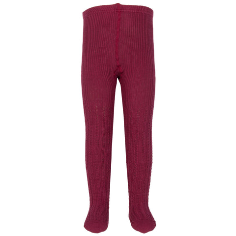Kite Clothing Winter-18 Toddler-girls Cable rib cherry tights