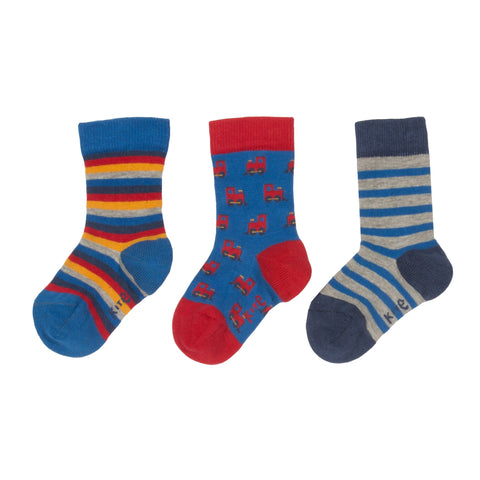 Kite Clothing Winter-18 Toddler-boys 3 pack choo choo socks