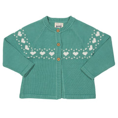 Kite Clothing Autumn-18 Toddler-girls Love heart cardi