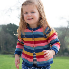 Kite Clothing Stripy kitty cat cardi