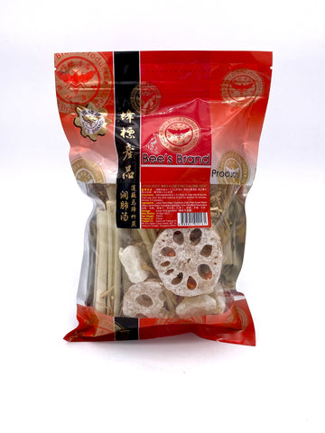 Lotus Root, Water Chestnut and  Cane Soup 莲藕马蹄竹蔗润肺汤 350g