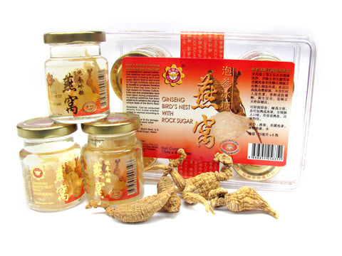 Ginseng Bird's Nest With Rock Sugar 蜂标冰糖泡参燕窝—75ml X 6 bottles