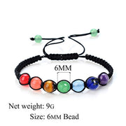 Eight Planets Natural Stone Bracelet Universe Yoga Chakra Galaxy Solar Lovers System Bracelets For MenOrWomen JewelryAnniversary