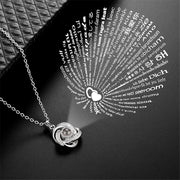 aaaa Silver Gold 2019 Fashion Crystal Projection Pendant Necklace For Women 100 Kinds I Love You Language Clavicle Chain Naszyjnik
