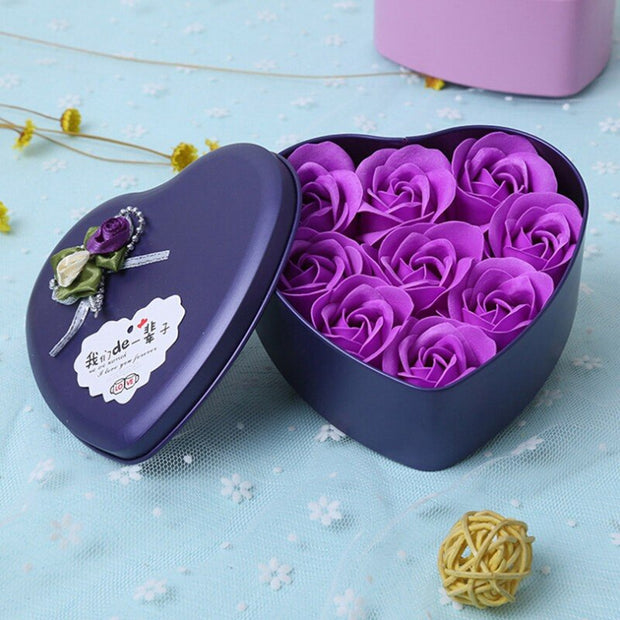 aaaa Valentines Day Perfume Roses Flower+ Iron Storage Box Gift For Birthday Anniversary Gifts Artificial Flowers For Wedding