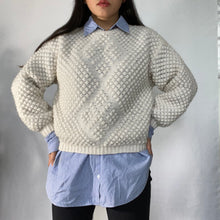 Load image into Gallery viewer, Thrifted Vintage Handmade Knitted Wool Jumper Ultra Warm and Soft