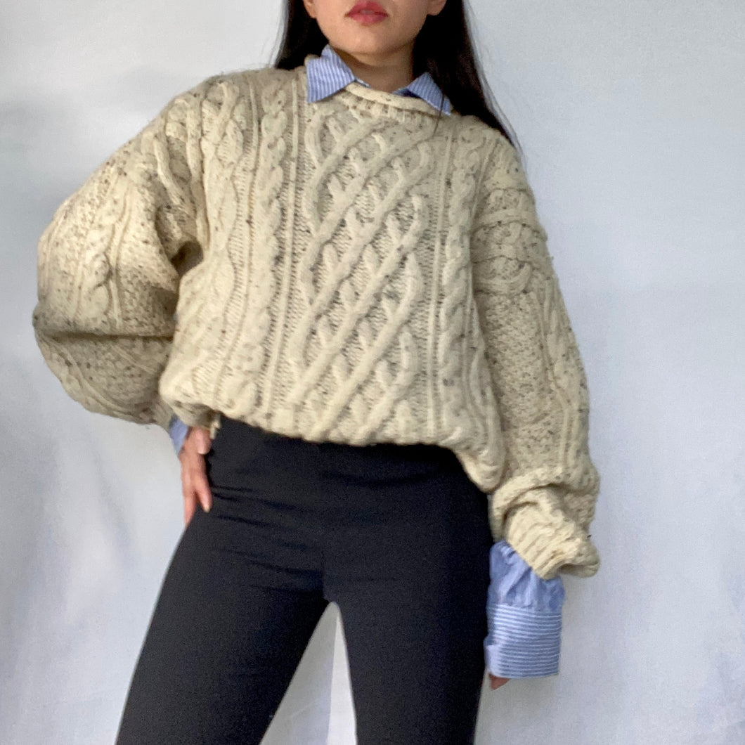 Thrifted Vintage Second Hand Oversized Knitted Wool pullover