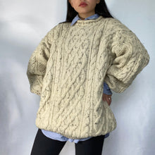 Load image into Gallery viewer, Thrifted Vintage Second Hand Oversized Knitted Wool pullover