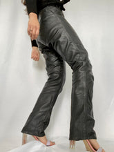 Load image into Gallery viewer, Thrifted Vintage - Vintage Leather Flare Pants High Waist Carrot Legs Bottom Detail