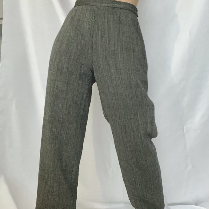 This is an oversized grey chino trouser of the luxury brand Max Mara. It's available on Thrifted-Vintage.com