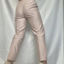 Load image into Gallery viewer, High Waist Chino Trousers in Powder Pink from the brand Max Mara. You can buy second-hand thrifted designer vintage at Thrifted-Vintage.com