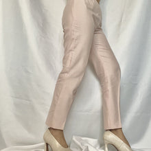 Load image into Gallery viewer, High Waist Chino Trousers in Powder Pink from the brand Max Mara. You can buy second-hand thrifted designer vintage at Thrifted-Vintage.comHigh Waist Chino Trousers in Powder Pink from the brand Max Mara. You can buy second-hand thrifted designer vintage at Thrifted-Vintage.com