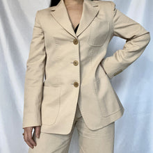Load image into Gallery viewer, This is a second-hand Max Mara blazer in beige colour.You can buy it at Thrifted-Vintage.com