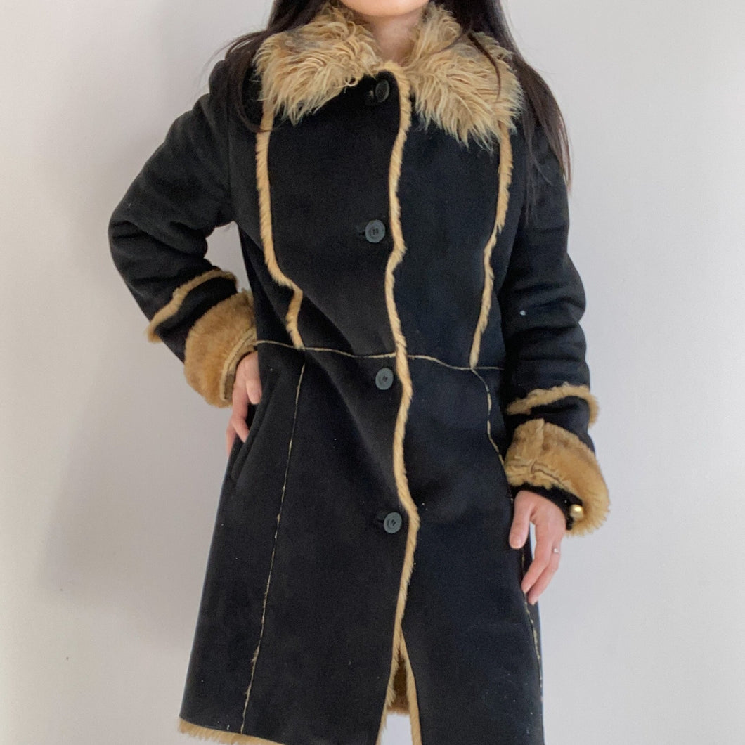 Vintage Lammy Coat Vegan Leather