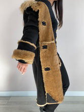 Load image into Gallery viewer, Vintage Lammy Coat Vegan Leather open