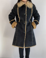 Load image into Gallery viewer, Vintage Lammy Coat Vegan Leather Balmain Style