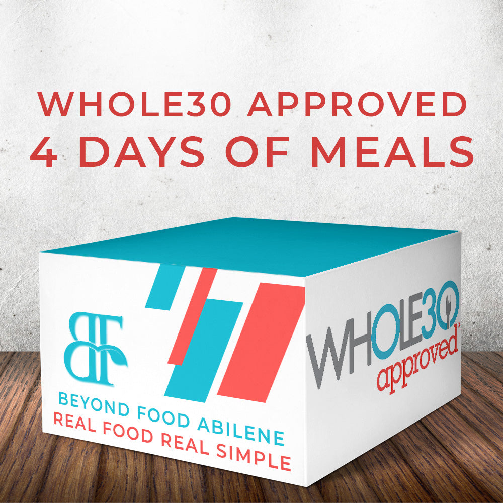 Whole30 Meal Plan - 4 Days, 1 Person  - Local Delivery Only