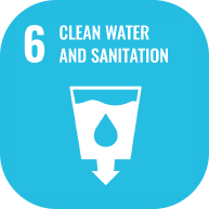 UN clean water and sanitation icon