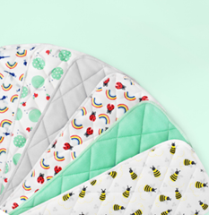Collection of diaper inserts in various designs