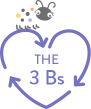 The 3 Bs logo with ladybug on top