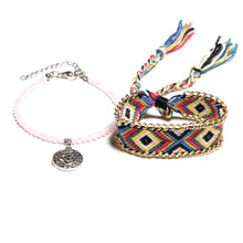 Load image into Gallery viewer, Ethnic Double Layer Anklets