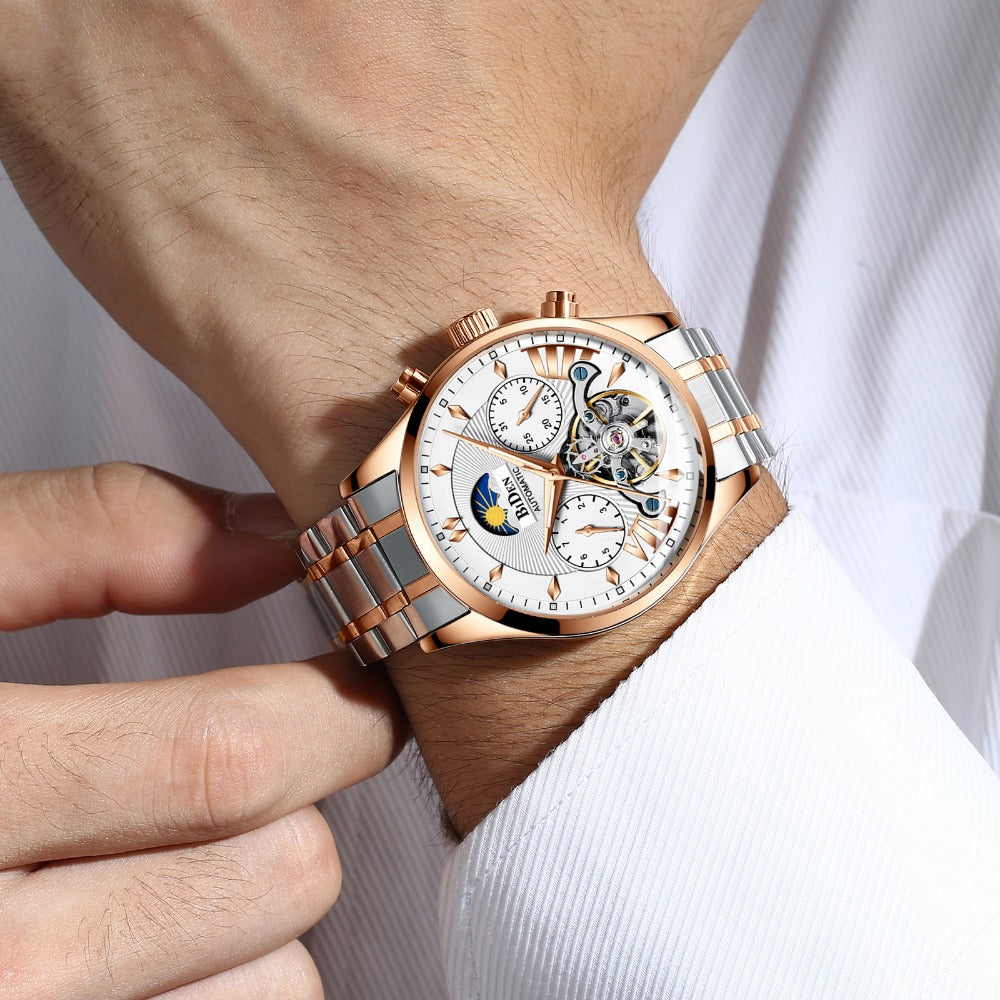 BIDEN BD8509 Moon Phase Automatic Mechanical Watch