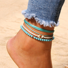 Load image into Gallery viewer, Bohemian Blue Beaded Multilayer Anklets Jewelry For Women