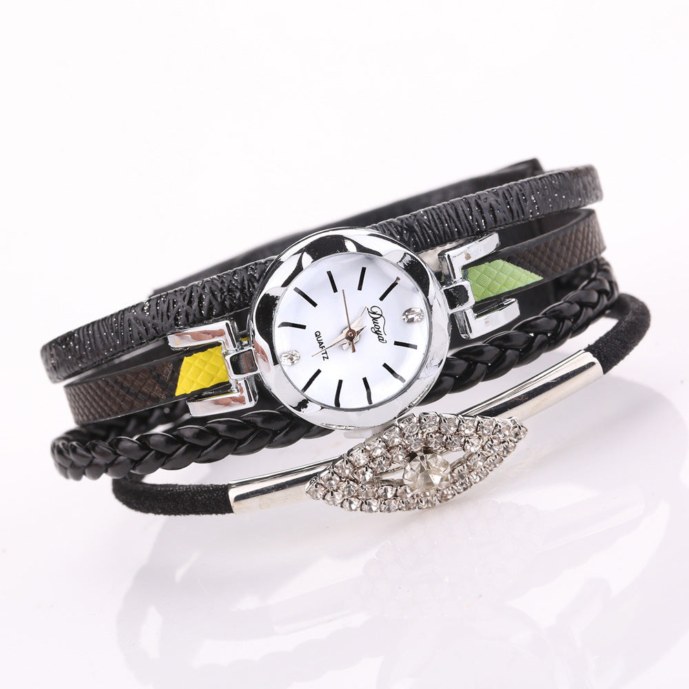 DUOYA D256 Retro Style Diamond Gift Women Bracelet Watch