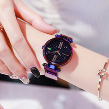 Load image into Gallery viewer, Fashion Star Magnetic Milanese Steel Band Women Quartz Watch